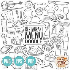 Music Doodle, Doodle Icon, Doodle Art, Line Art Design, Web Design, Type Design, Graphic Design, Rock Clipart, Carta Restaurant