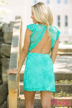 Forever Divine Mint Lace Dress CLEARANCE