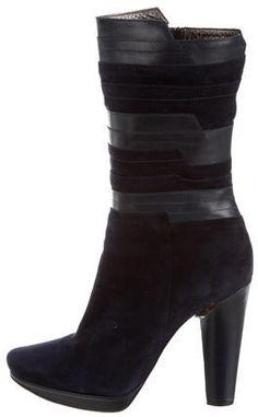 Calvin Klein Collection Suede Platform Boots