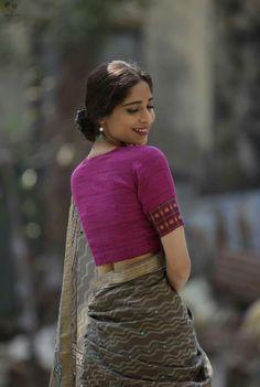 Saree Look, Half Saree, Hammocks, Saree Blouse Designs, Saree Collection, Cotton Saree, Indian Sarees, Intuition, Yards