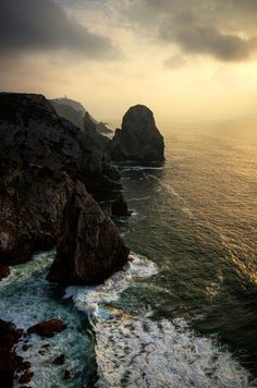 Leave me here ! Favorite places and spaces . Rocks . Sea . Sunset . Amazing world .
