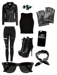 """""""Untitled #43"""" by faultbackgame2strong on Polyvore featuring Topshop, IRO, River Island, Ray-Ban, Karl Lagerfeld, women's clothing, women's fashion, women, female and woman"""