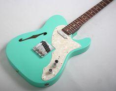 Fender Custom Shop Masterbuilt Dennis Galuszka Thinline Telecaster Closet Classic (Seafoam Green)