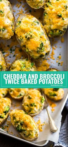 Cheddar and Broccoli Twice Baked Potatoes are the ultimate cheesy side dish for your next dinner! They're an easy recipe to make with simple ingredients and lots of down time. These are the best side for a sinner party or holiday gathering! via @thelifejolie