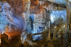 Considered to be one of the most beautiful caves in the world, Jeita Grotto, Lebanon.