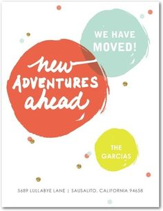 Adventures Ahead - Moving Announcement Postcards - Chewing the Cud - Orange | www.TinyPrints.com