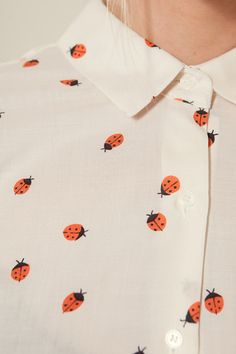 Lady bug print blouse.
