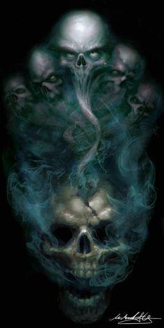 skull art black and white Skull Tattoo Design, Skull Tattoos, Body Art Tattoos, Tattoo Drawings, Skull Drawings, Dark Fantasy Art, Dark Art, Totenkopf Tattoos, Psychedelic Art
