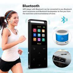 16GB MP3 Player Bluetooth HiFi Digital Music Mini Portable Audio Player W Inbuild Speaker FM Radio. Click visit to buy