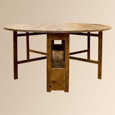 """Kensington 63"""" Gateleg Table I am a great fan of reusing old lumber.  Nothing feels or looks  like old growth lumber used and even a little abused.  It has character!"""