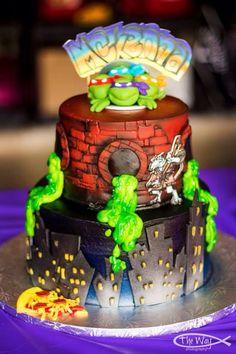 TMNT Cake super heroes cakes cookies Pinterest Tmnt cake