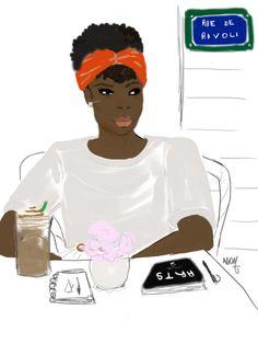 La fille Chocolat café by nikisgroove #illustrations