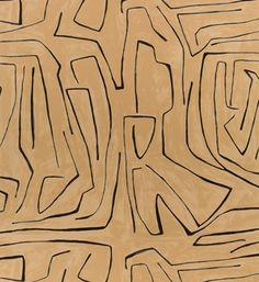 Graffito Wallpaper by Kelly Wearstler Paper Wallpaper, Black Wallpaper, Linen Wallpaper, Cream Wallpaper, Eclectic Wallpaper, Wallpaper Murals, Kitchen Wallpaper, Geometric Wallpaper, Kelly Wearstler Wallpaper