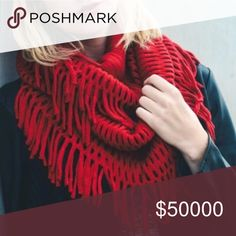 Coming soon!! 🎉 This red tassel infinity scarf is perfect for a gift for yourself or other this season! Gorgeous red color, coming soon! WILA Accessories Scarves & Wraps