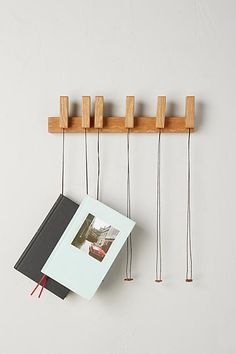 Wooden Book Rack for