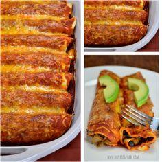 the best veggie enchiladas EVER {recipe}