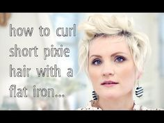 How to Curl Pixie Hair – YouTube. Since I have a pixie cut now….. : D | Look around!