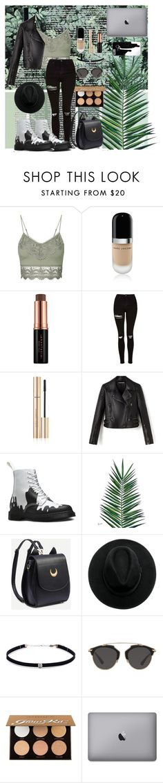 """""""Untitled #14"""" by sofiaalm-magalhaes ❤ liked on Polyvore featuring Topshop, Marc Jacobs, Anastasia Beverly Hills, Dolce&Gabbana, Dr. Martens, Nika, Carbon & Hyde and Christian Dior"""