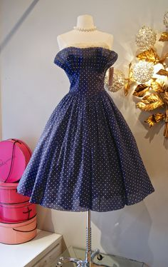 50's Dress// Vintage 1950's World's Cutest Polka by xtabayvintage, $298.00