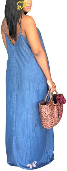 Women's Plus Size Long Maxi Denim Sundresses Floor Length Striped Dress Women's Plus Size Long Maxi Denim Sundresses Floor Length Striped  Dress. Women's Plus Size Tops Striped Raglan Tee Shirts Casual Tunics Blouses New Curvy And Plus Size Women Outfit For Summer 2020. plus size clothing and all trending fashions for chubby and curvy girls. best outfits for plus size | plus sized fashion | style plus size | plus size outfits | womens fashion plus size | outfits plus size | fashion for plus… Plus Size Jeans, Plus Size Tops, Plus Size Women, Jean Outfits, Cool Outfits, Summer Outfits, Casual Shirts, Tee Shirts, Easy Summer Meals