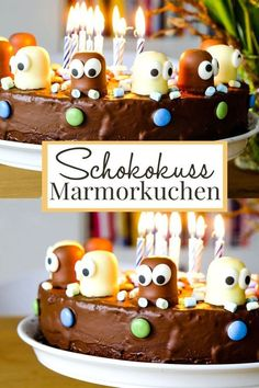 Funny eye-catcher and delicious on top: A marble cake decorated with chocolate kisses which look funny. cake chocolates cookies # Birthday cake The post World's best marble cake à la appeared first on Dessert Park. Marble Cake, Food Cakes, Cake Recipes, Snack Recipes, Dessert Recipes, Dessert Food, Chocolates, Cake Games, Chocolate Decorations