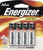 Energizer - MAX Batteries AA (4-Pack), Silver
