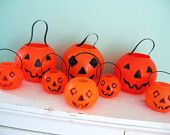 Halloween party decorations-old vintage candy buckets