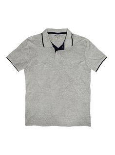 a5bcbb2818 Camisa polo masculina hering básica com contraste de cor na cor cinza em  tamanho P.