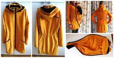 RecyDrops: První vlaštovka pro tmavovlásku... Raincoat, Hands, Crafty, Jackets, Fashion, Rain Gear, Down Jackets, Moda, Jacket