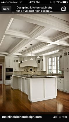 Coffered kitchen ceiling ❤️