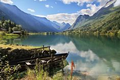 Floen Lake in Oldedalen, Norway jigsaw puzzle in Great Sightings puzzles on TheJigsawPuzzles.com