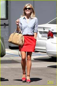 Reese Witherspoon. I love these shoes. Pierre Hardy.