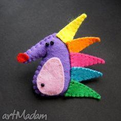 zabawny jeżyk - filc, lekki, kolorowy
