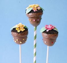 6 mindblowingly cool Easter cake pop recipes. These flowerpot pops are too cute!