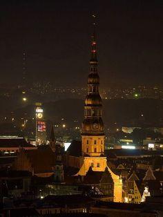 St. Peter's Church in Riga Travel Europe Share and enjoy! #anastasiadate