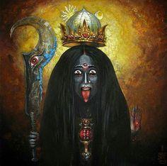 MAA KALI MAA ... Ez csak az egyik arca ... azért korlátozza, hogy feloldozza. .. This Maya Shakti, my Eternal Lover.