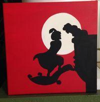 Disney crafting: Aladdin and Jasmine silhouette