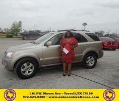 https://flic.kr/p/EWPwaw | Happy Anniversary to Patricia on your #Kia #Sorento from David Herrera at Auto Center of Texas! | deliverymaxx.com/DealerReviews.aspx?DealerCode=QZQH