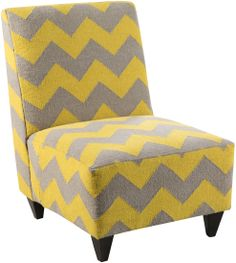 Our Accent Furniture Line Is Expanding  Check Out This Chair In Yellow And  Gray!