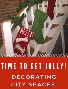 Holiday decorating tips, especially for small spaces.