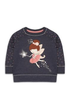 Baby Girl Navy Magic Fairy Top