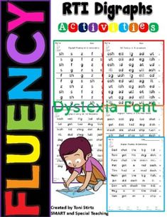 If your students are beginning or struggling readers one of the keys to fluency is to increase their automaticity. Automaticity is the fast, effortless word recognition that comes with a great deal of reading practice. These activity sheets are a fast way to encourage students to practice. These she... Reading Practice, Teaching Reading, Learning, Dyslexia Activities, Friends Font, Gillingham, Struggling Readers, Student Reading, Activity Sheets