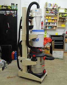 Vertical Shopvac & Cyclone Cart