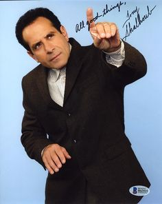 Authenitc autographed and signed photos and collectibles. Monk Tv Show, Adrian Monk, Tony Shalhoub, Pleasing People, Movie Characters, Burns, Fiction, Tv Shows, Celebrity