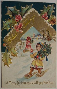 Vintage Christmas Postcard | Flickr - Photo Sharing!