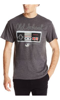 b3d823420 Nintendo Men's Tangled Controller T-Shirt, Charcoal Heather, X-Large Best  Price