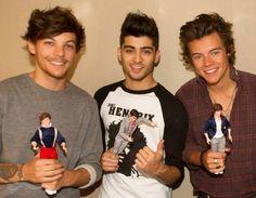 Louis Tomlinson, Zayn Malik, and Harry Styles of 1D