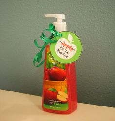 Apple for the Teacher Hand Soap Printable | Teacher Gift