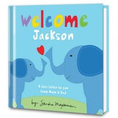 Welcome Little One Storybook for Boys - Book Cover