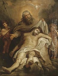 The Holy Trinity oil painting by Sir Peter Paul Rubens, The highest quality oil painting reproductions and great customer service! Pictures Of Jesus Christ, Religious Pictures, Catholic Art, Religious Art, Santicima Trinidad, Supernatural Facts, Peter Paul Rubens, Biblical Art, Jesus Art
